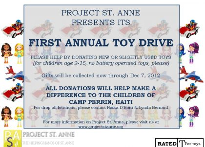 First Annual Toy Drive